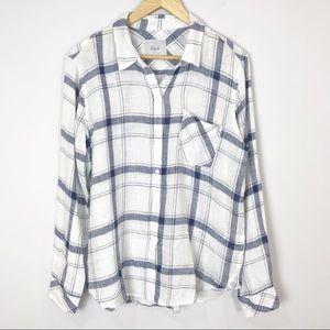 Rails Charli Pacific White Button Front Shirt
